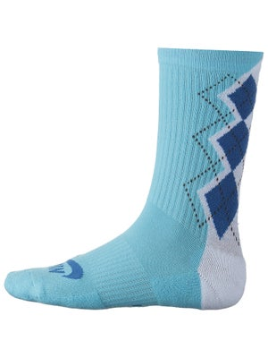 Nike Dri-Fit Argyle Crew Sock Blue