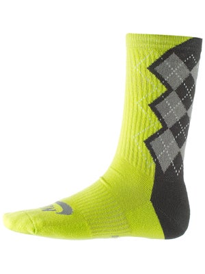 Nike Dri-Fit Argyle Crew Sock Venom Green
