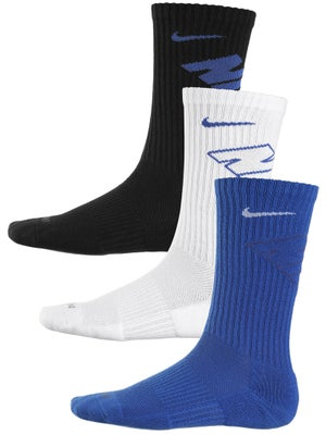 Nike Dri-Fit Fly Crew Sock 3-Pack Wh/Roy/Bk