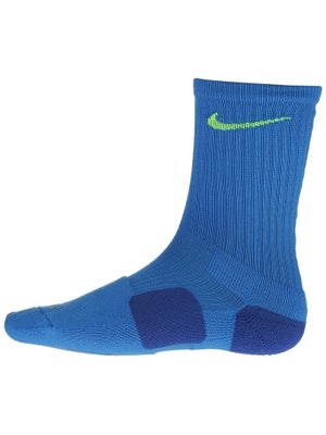 Nike Dri-Fit Elite Crew Sock Lt Photo Blue/Volt