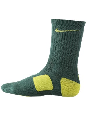 Nike Dri-Fit Elite Crew Sock Green/Yellow
