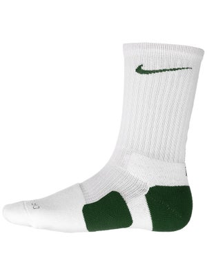 Nike Dri-Fit Elite Crew Sock White/Gorge Green