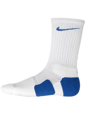 Nike Dri-Fit Elite Crew Sock White/Royal