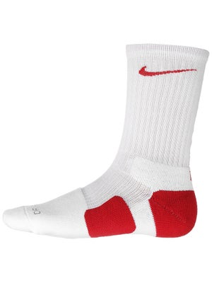 Nike Dri-Fit Elite Crew Sock White/Red