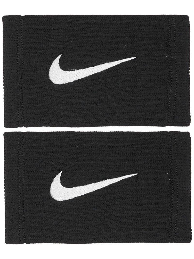 Nike Dri Fit Reveal Doublewide Wristbands Black Grey