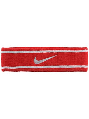 Nike Dri-Fit Striped Headband Red/White