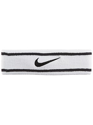 Nike Dri-Fit Striped Headband White/Black