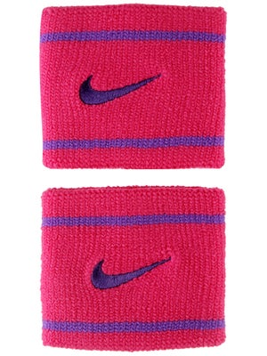 Nike Dri-Fit Striped Singlewide Wristband Pink/Purple