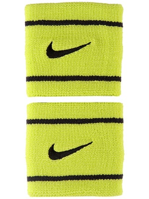Nike Dri-Fit Striped Singlewide Wristband Venom/Black