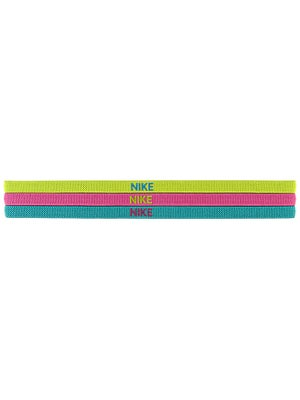 Nike Elastic Hairband 3-Pack Venom/Pink/Turbo
