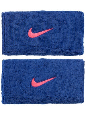 Nike Fall Swoosh Doublewide Wristband Royal/Punch