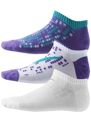 Nike Girl's No Show Graphic Socks 3-Pack Multi