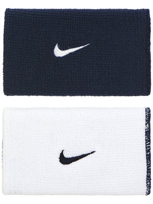 Nike Dri-Fit Home & Away Doublewide Wristband Nv/Wh