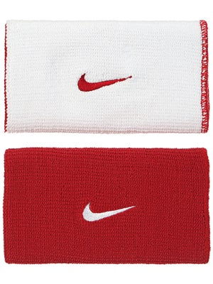 Nike Dri-Fit Home & Away Doublewide Wristband Red/White