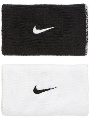 Nike Dri-Fit Home & Away Doublewide Wristband Wh/Bk