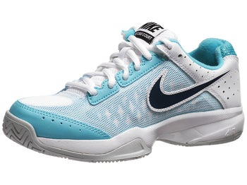 Nike Cage Court White/Gamma Blue/Navy Junior Shoe