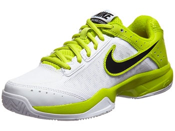 Nike Cage Court White/Venom Green Junior Shoe