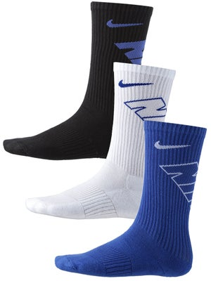Nike Junior Graphic Crew Socks 3-Pack Bl/Wh/Bk