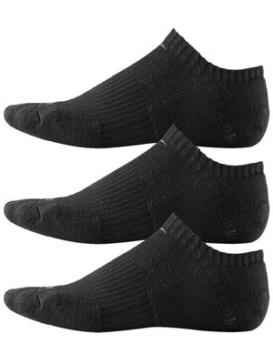Nike Dri-Fit No-Show Socks 3-Pack Bk/Gy MD