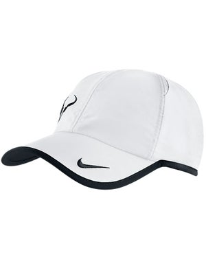 Nike Men's Rafa Bull Featherlight Hat White/Black