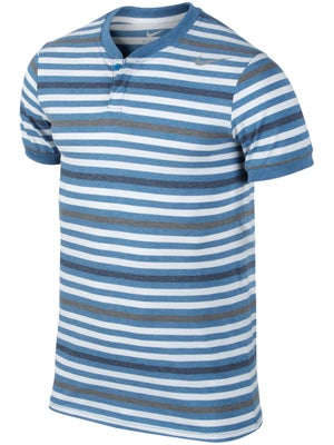 Nike Men's Summer Dri-Fit Touch Stripe Henley Crew