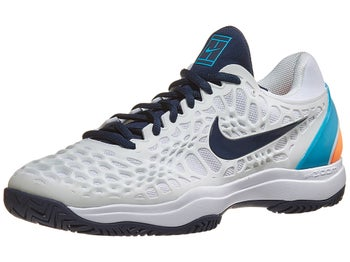 1fdc1a00 Product image of Nike Air Zoom Cage 3 White/Blue/Fury Men's Shoe