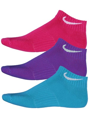 Nike Girl's Low-Cut 3-Pack Socks Multi