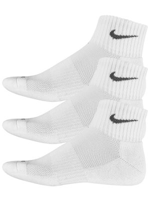 Nike Junior Quarter 3-Pack Socks White