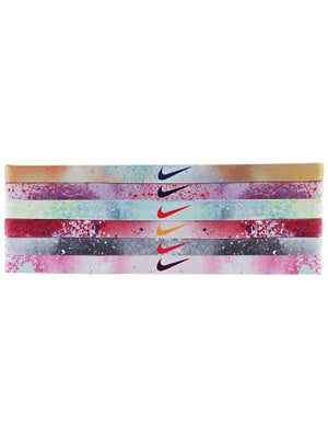 Nike Printed Hairband 6-Pack Mango/Purple/Glacier