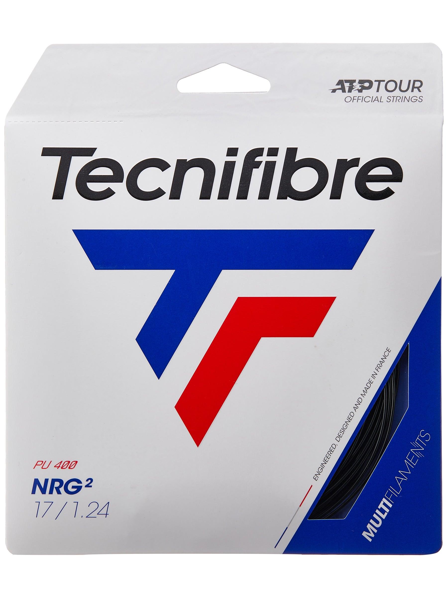 2 Sets of Tecnifibre Black Code Tennis String 1.24mm 17 Gauge Black