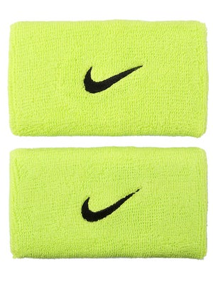 Nike Swoosh Double Wide Wristband Atomic Green