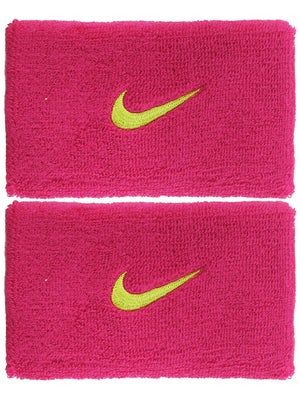 Nike Swoosh Double Wide Wristband Fireberry