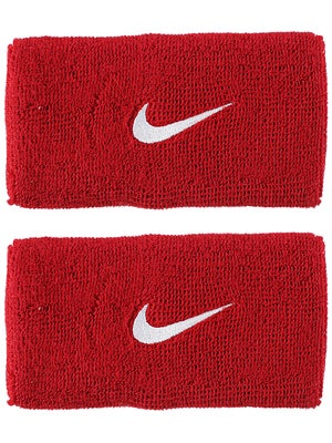 Nike Swoosh Double Wide Wristband Red/White