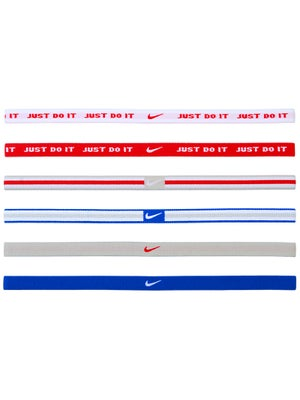 Nike Sport Hairbands 6-Pack Blue/Scarlet