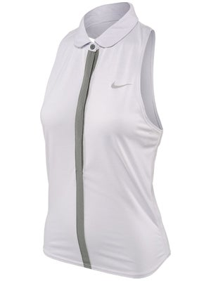 Nike Women's Lawn Dri-Fit Touch Sleeveless Polo