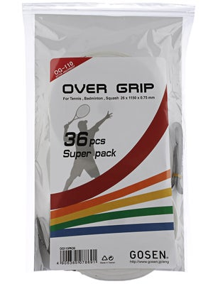 Gosen OG-110 Overgrip Grip White 36 Pack