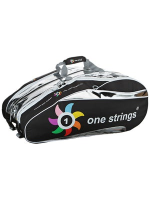 One Strings Tennis Racquet Bag Black