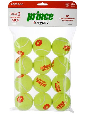 Prince Stage 2 Orange Ball 12 Pack