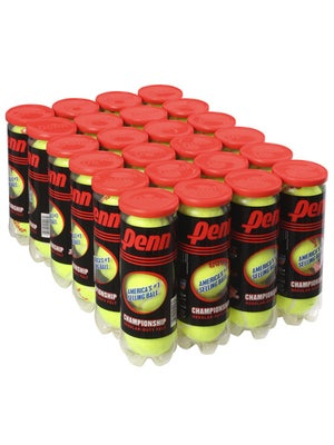 Penn Championship Regular Duty Tennis Balls 24 Can Case