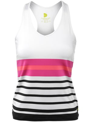 Pure Lime Women's Tropical Stripe Racer Tank