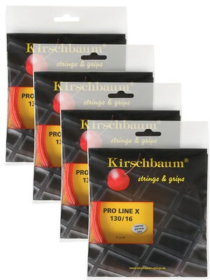 Kirschbaum Pro Line X 16 (1.30) String Ch/Orange 4-Pack