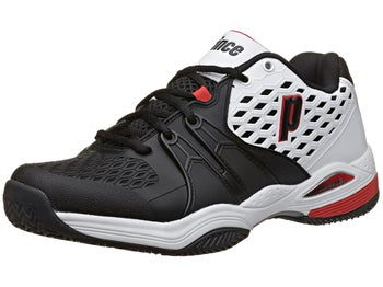 Prince Warrior Clay White/Black/Red Men's Shoe