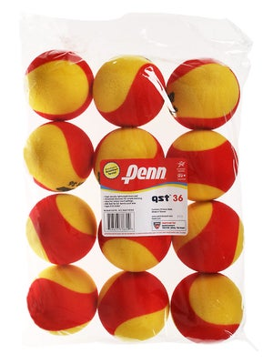 Penn Quick Start Tennis 36' Red Foam Ball 12-Pack