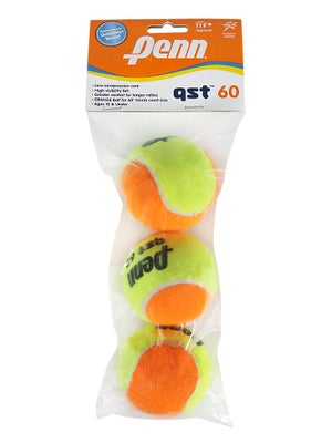 Penn Quick Start Tennis 60' Orange Felt Ball 3 Pack