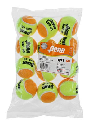 Penn Quick Start Tennis 60' Orange Felt Ball 12 Pack