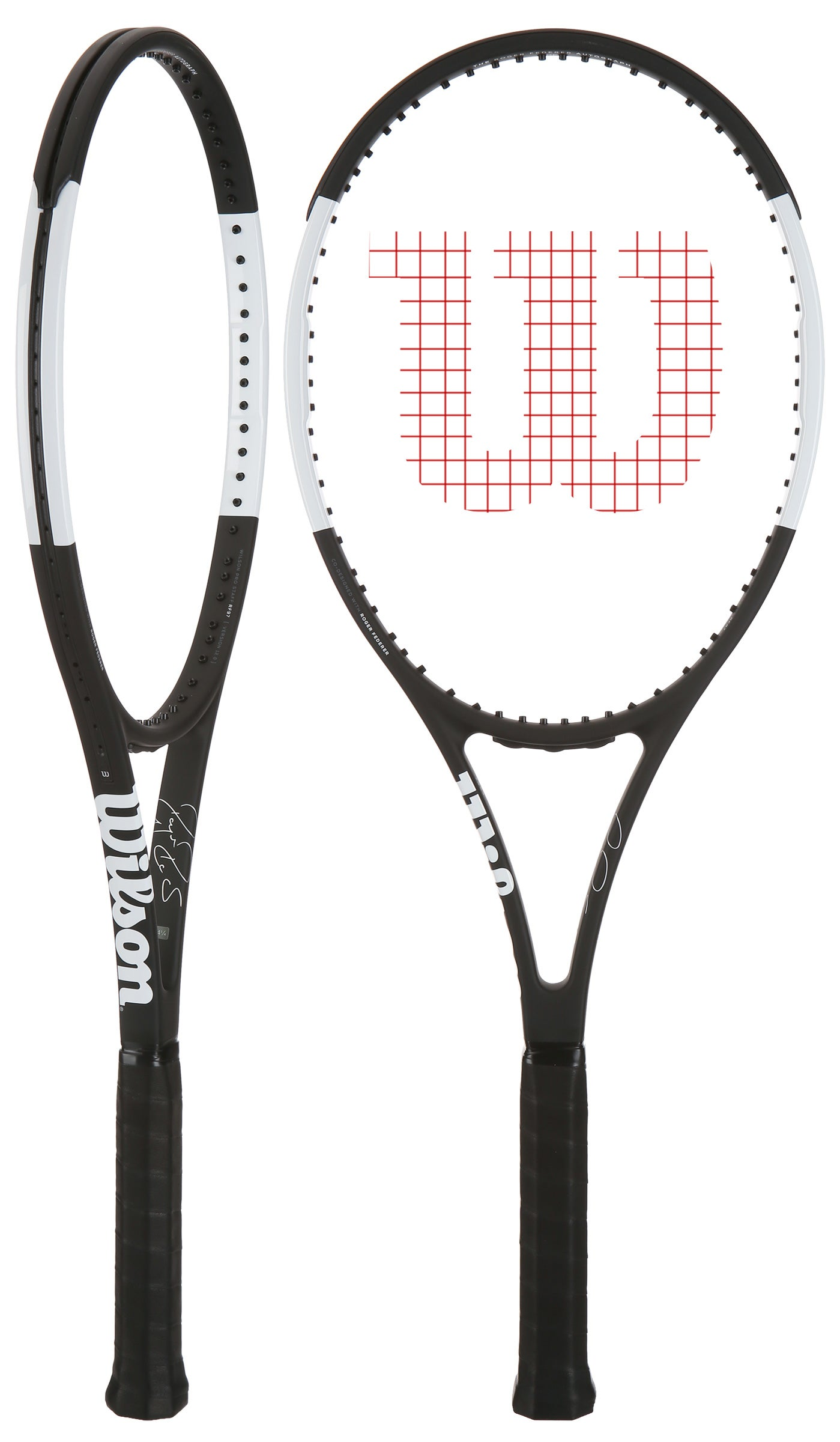 VOLKL GENUINE LEATHER REPLACEMENT TENNIS RACQUET GRIP. NATURAL // BLACK