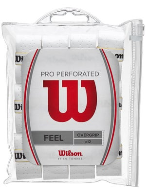 Wilson Pro Overgrip Perforated 12 Pack White