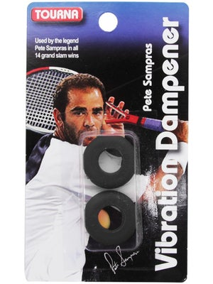 Pete Sampras Tourna Vibration Dampener Black (2 pack)