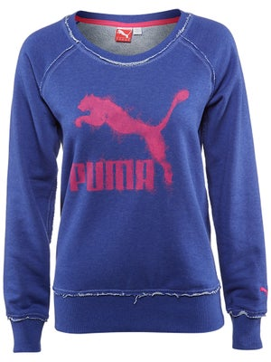 Puma Women's Spring French Terry LS Crew