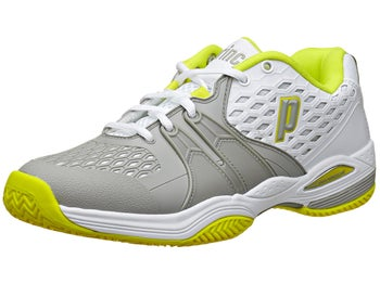Prince Warrior Clay White/Grey/Citron Women's Shoes